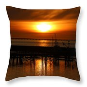 Astoria Oregon Sunset Throw Pillow