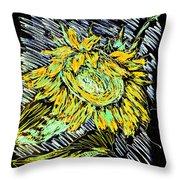 Astoria Sunflower Study 2 Throw Pillow
