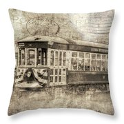 Astoria Trolley Throw Pillow
