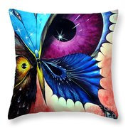 Astral Butterfly. Soul - Memory - Mind Throw Pillow