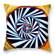Astral Map Of The World. Black And White Stripes Throw Pillow
