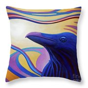 Astral Raven Throw Pillow by Brian  Commerford