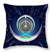 Astral Speedway Throw Pillow