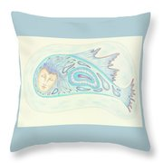 Astral Traveler - From A Dream Image Throw Pillow