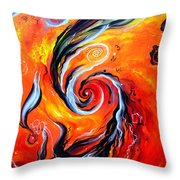 Astral Travels. Fire Way Out Of The Death Throw Pillow