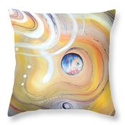 Astral Vision. Earth And Its Energy Throw Pillow