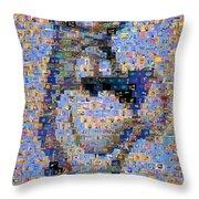 Astro Jetsons Mosaic Throw Pillow