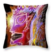 Astroface Firehead Throw Pillow