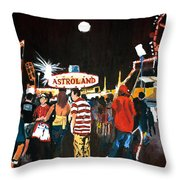 Astroland Throw Pillow