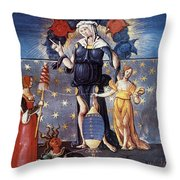 Astrology With Fates Throw Pillow