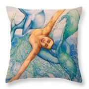 Astrology Zodiac Signs Pisces Throw Pillow