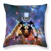 Astronaut Disintegration Throw Pillow