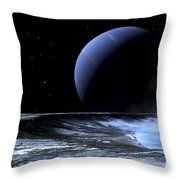 Astronaut Standing On The Edge Throw Pillow