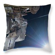 Astronaut Terry Virts Eva Throw Pillow