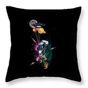 Astronaut Ufo Balloon Outer Space Shuttle  Throw Pillow