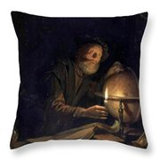 Astronomer 1655 Throw Pillow