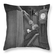 Astronomer Observing Transit Of Venus Throw Pillow