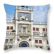 Astronomical Clock At San Marco Square Throw Pillow