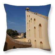 Astronomy Of Giants. Samrat Yantra. Throw Pillow