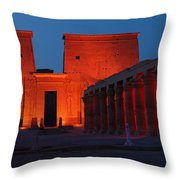 Aswan Temple Of Philea Egypt Throw Pillow