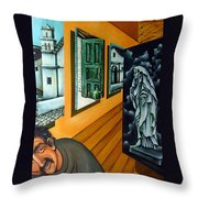 Asylum Throw Pillow