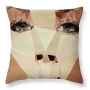 Asymetric Tan Throw Pillow