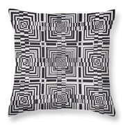 Asymmetric Bayrons Throw Pillow