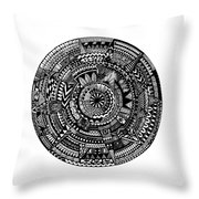 Asymmetry Throw Pillow