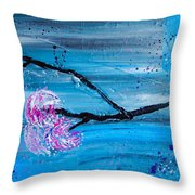 Asymmetry In Nature Abstract Floral Painting Throw Pillow