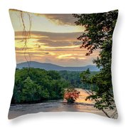 At A Bend In The River Throw Pillow by Kendall McKernon