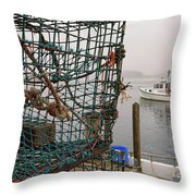 At Anchor On Cape Porpoise Throw Pillow