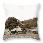 At Atascadero War Manuevers Circa 1915 Throw Pillow
