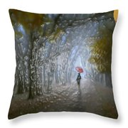 At Autumn Park Throw Pillow
