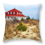 At Cape May Point Throw Pillow