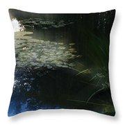At Claude Monet's Water Garden 3 Throw Pillow