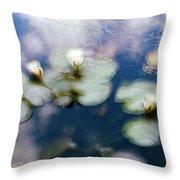 At Claude Monet's Water Garden 4 Throw Pillow
