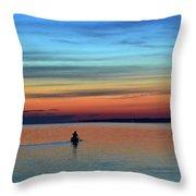 At Dawn In A Canoe  Throw Pillow