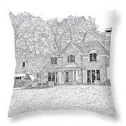 At Home In Devon Throw Pillow