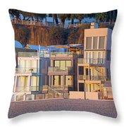 At Home On Santa Monica Beach Throw Pillow
