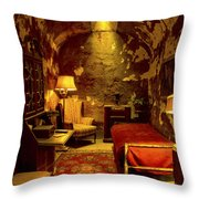 At Home With Al Capone Throw Pillow