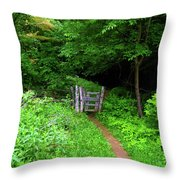 At Ma Gate Throw Pillow