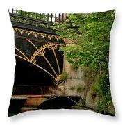 At Magdalene Bridge. Throw Pillow