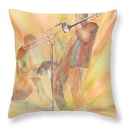 At One With The Music Throw Pillow