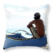 At Others I Just Sit Throw Pillow