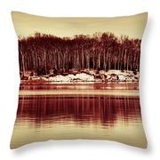 At Quiet Waters Throw Pillow
