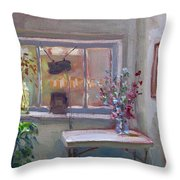 At River Art Gallery Throw Pillow