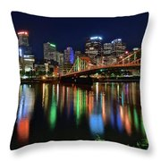 At Rivers Edge In Pittsburgh Throw Pillow