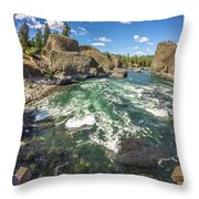 At Riverside Bowl And Pitcher State Park In Spokane Washington Throw Pillow