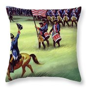 At Saratoga The Colonists Won Victory Throw Pillow