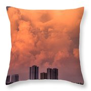 At Sunset In West Palm Beach Throw Pillow